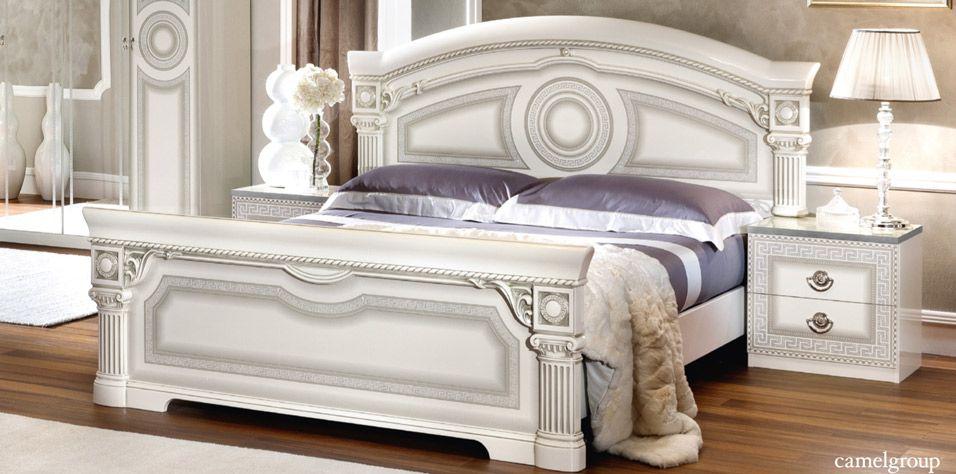 DOUBLE BED AIDA WHITE (AIDA)