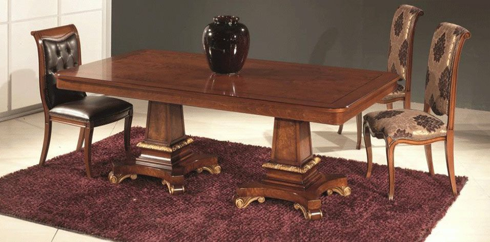 DINING TABLE EXPANDABLE WITH DOUBLE PEDESTAL (0210)