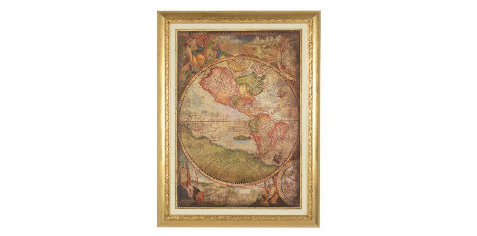"""ENGRAVING """"MAP"""" (0494)"""