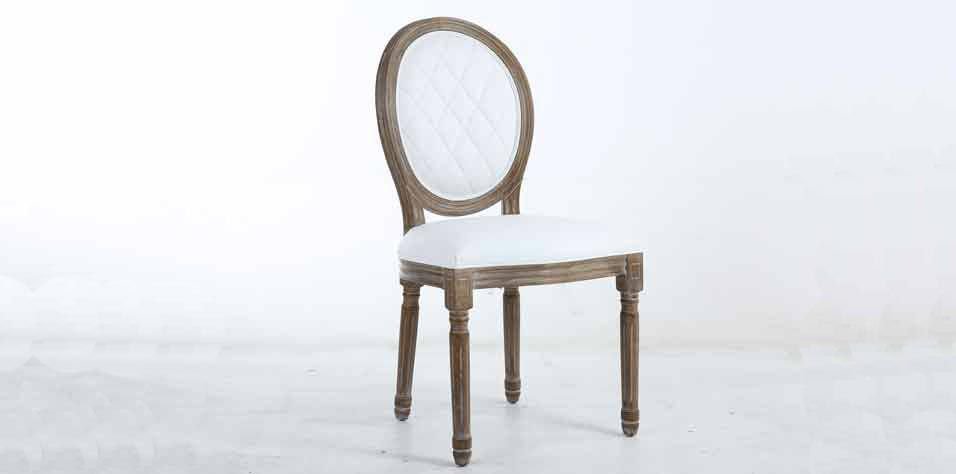 DINING CHAIR IN PU LEATHER (WHIT)
