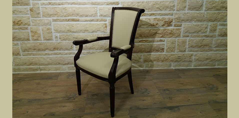 ARMCHAIR IN LEATHER (6107)