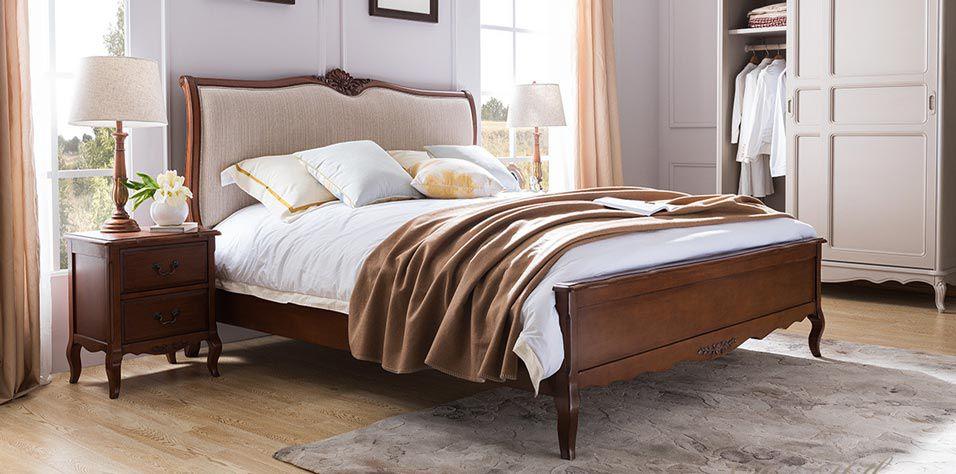 BED IN WALNUT FINISH (W19L)