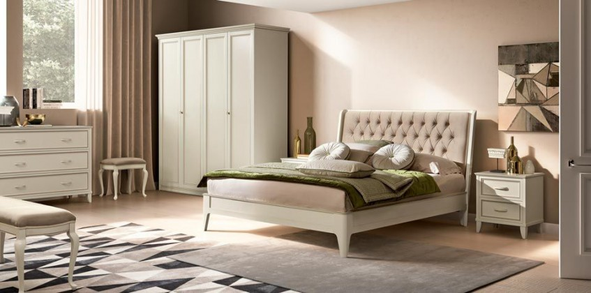 BED GIOTTO ANTIQUE WHITE (GIOA) BED