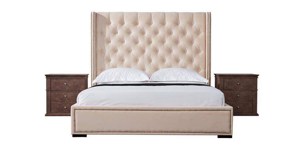 DOUBLE BED IN VELVET (K189)