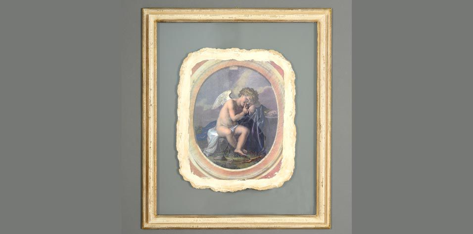 """DECORATIVE PAINTING """"ANGEL"""" A (320A)"""
