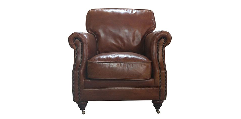 ARMCHAIR IN GENUINE LEATHER (3081)