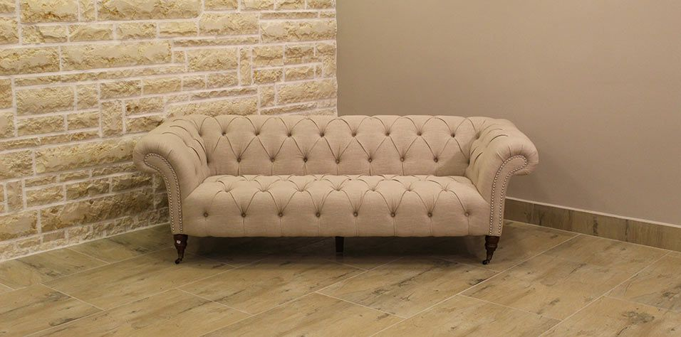 SOFA SET 3124 QUILTED BEIGE (60, 40)