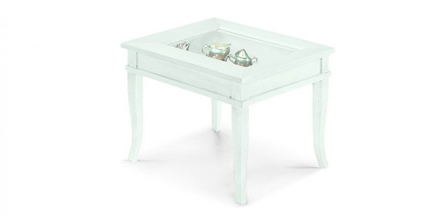 SIDE TABLE WITH GLASS (1016)