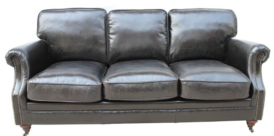 3 SEATER SOFA IN GENUINE LEATHER (083M)