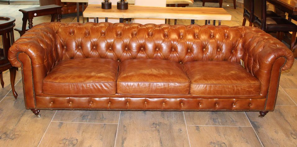 3,5 SEATER SOFA CHESTERFIELD TYPE (0093)